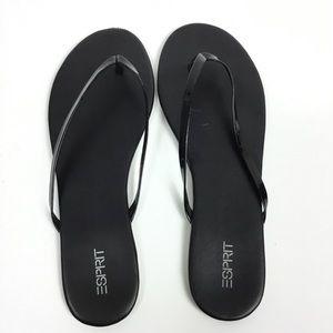 1ba5d4f12cc0 Esprit Shoes - ESPRIT PARTY BLACK PATENT LEATHER THONG FLIP FLOPS